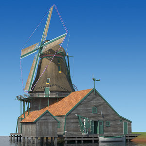 dutch windmill 3d model