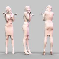 girl posing 3d fbx
