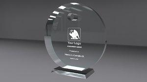 obj award glass