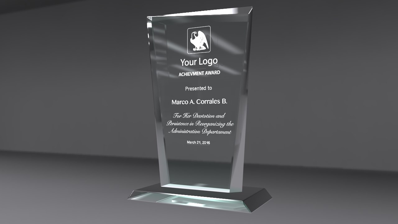award glass 3d model