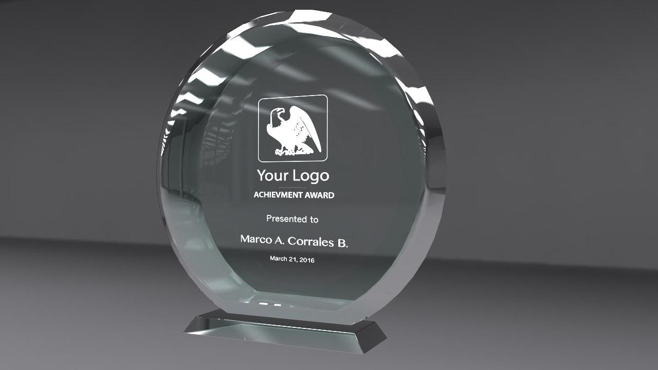 3d model award glass