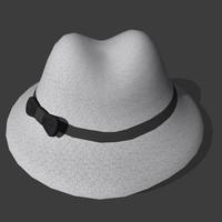 gentleman s hat 3d model