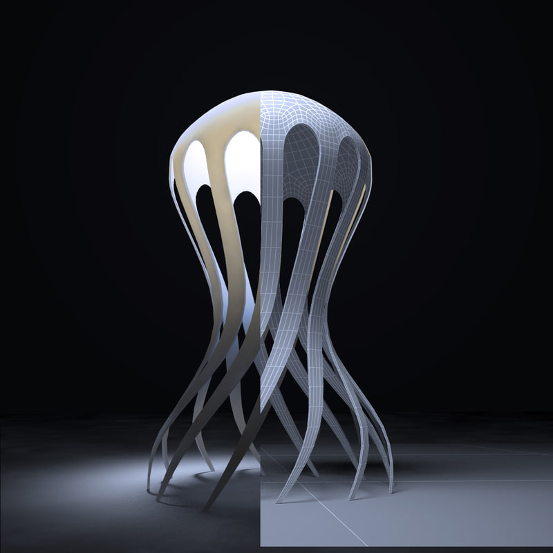 3d cirrata corian lamp