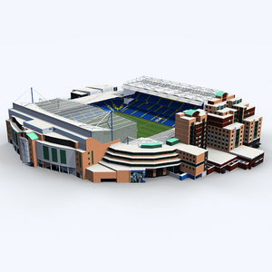 3d stamford bridge stadium version model