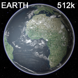 3d earth 512k clouds