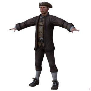 3d medieval boy model