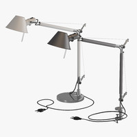 3d model artemide tolomeo lamps
