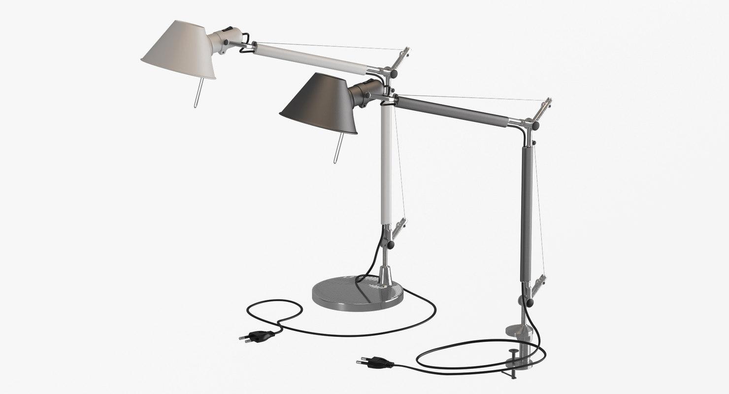 3d model artemide tolomeo lamps
