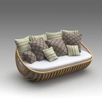 3d garden sofa model