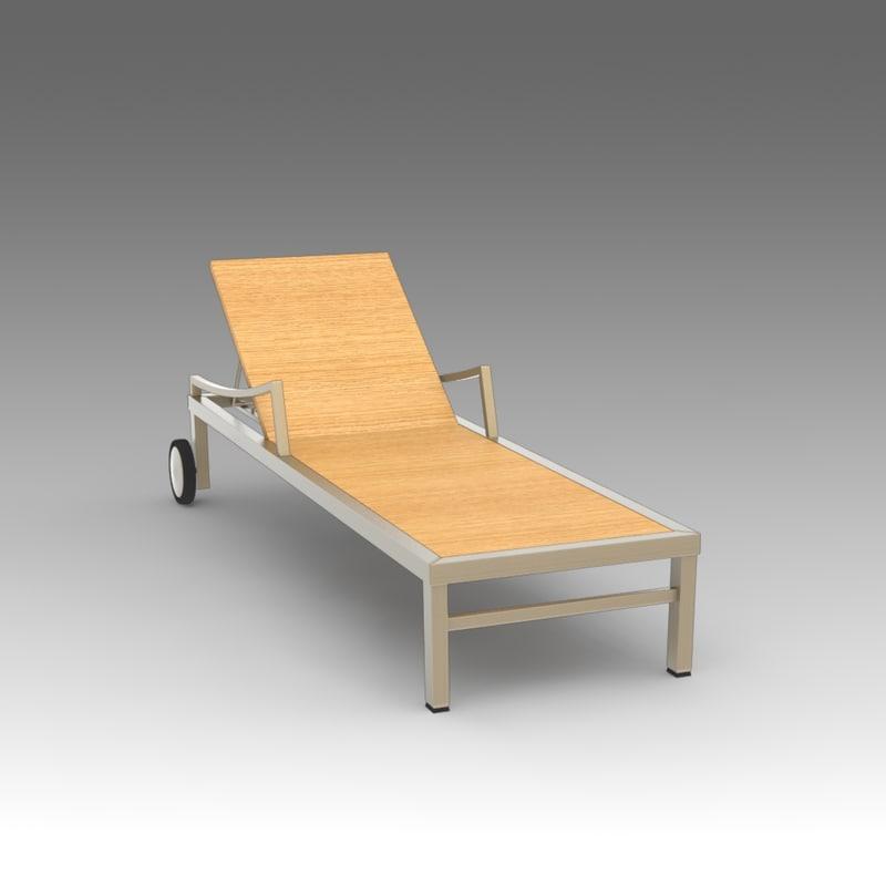 3d model of deckchair deck
