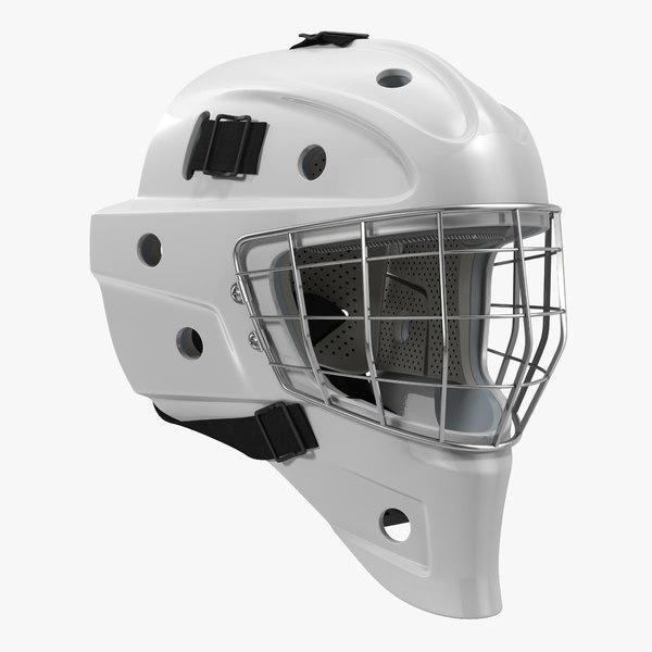 3d model hockey goalie mask generic