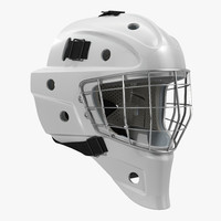 Hockey Goalie Mask Generic White