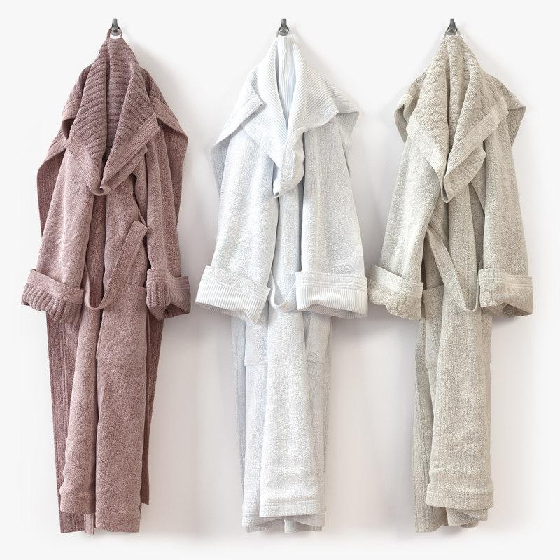 3d model bathrobe bath