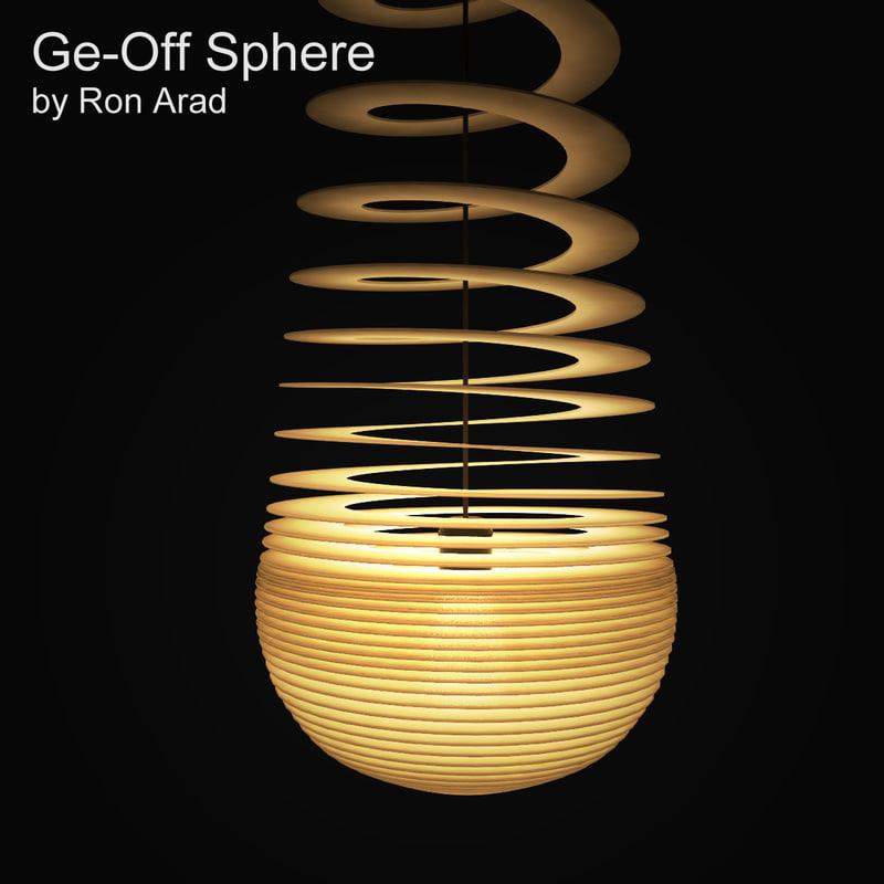 3d obj ge sphere pendant light