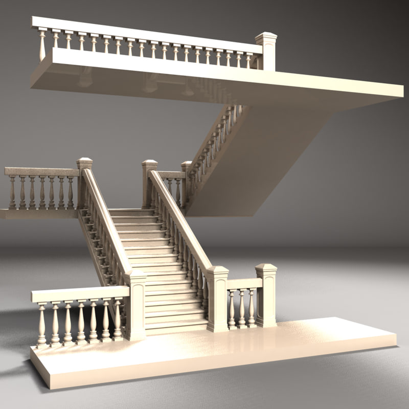 staircase 3d 3ds