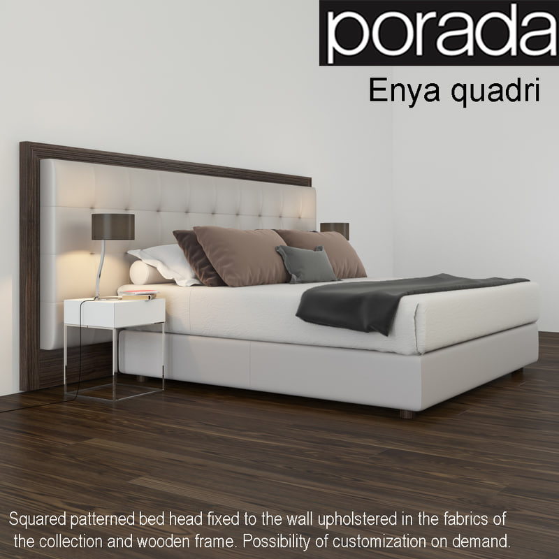 bed porada enya quadri 3d model