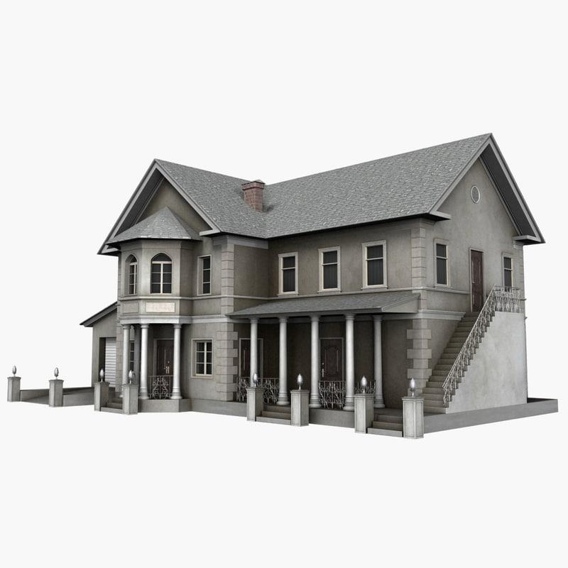 3d house garage