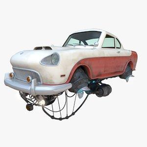fly car el justicialista 3d model