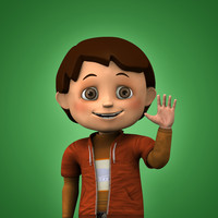 3d max boy cartoon