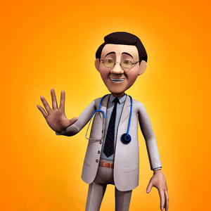 3d model cartoon doctor