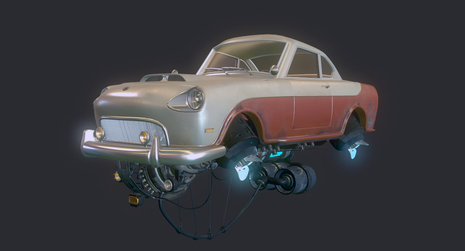fly car el justicialista 3d model