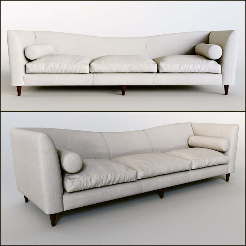 patricia sofa baker 3d model