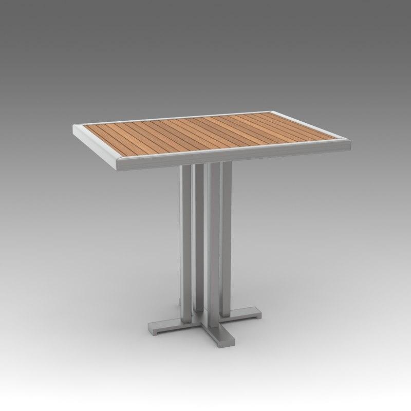 3d garden table