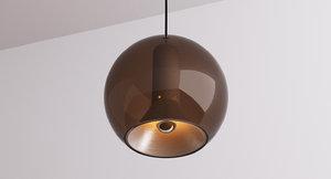smoked glass globe frank 3d model