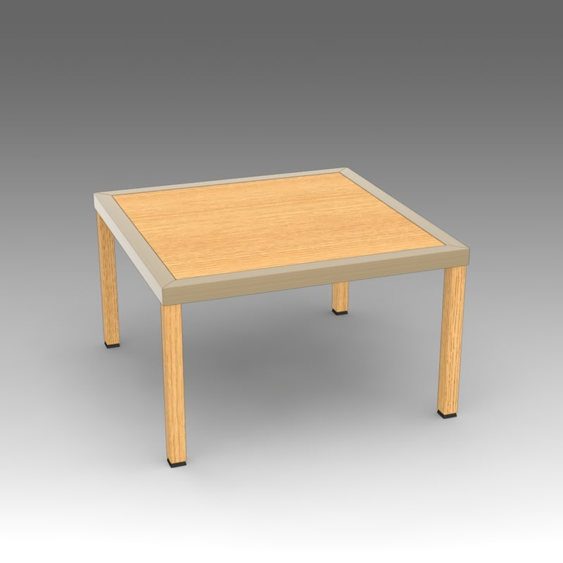 wooden table fbx