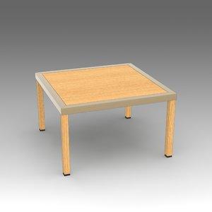 wooden table fbx