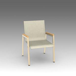3d garden armchair