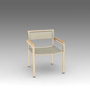 garden armchair 3d model