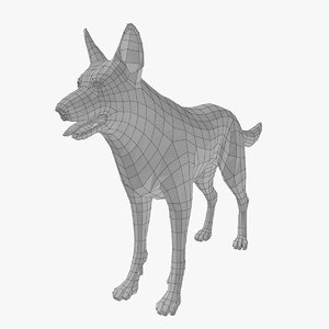 3d dog basemesh model
