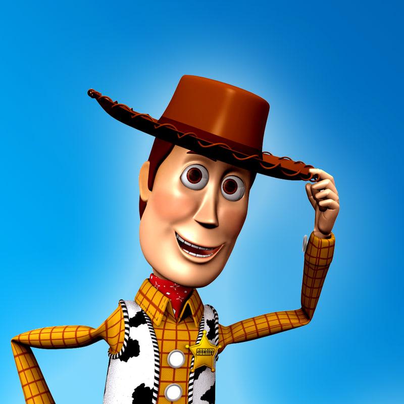 sheriff woody 3d model