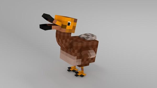 minecraft dodo rig 3d model