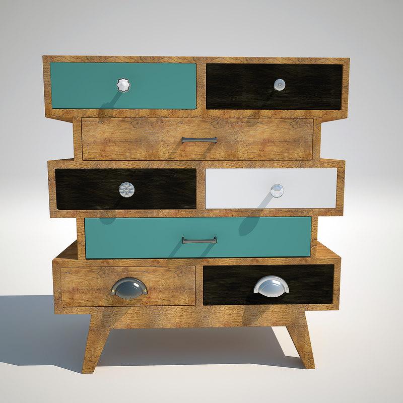 3d max chest kare design babalou