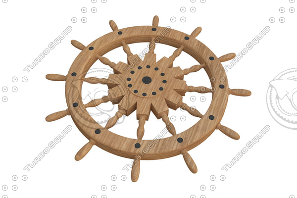 max sailing boat ship steering wheel