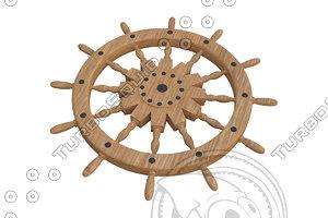 max sailing boat ship steering wheel