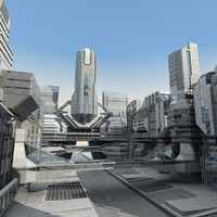 modern futuristic structure 3d model