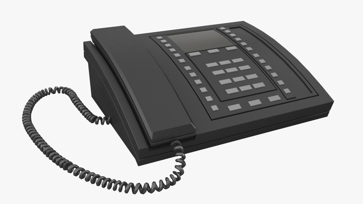 3d multi-line phone model