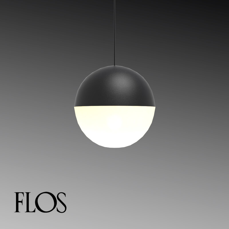 flos string light sphere 3d model