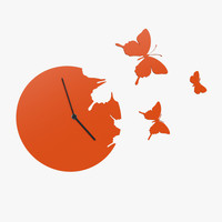 design clock butterflies 3d model