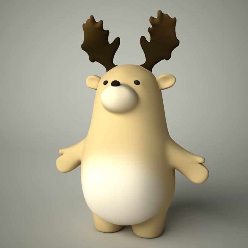 3d toon deer
