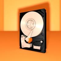 free mechanical internal hard drive 3d model