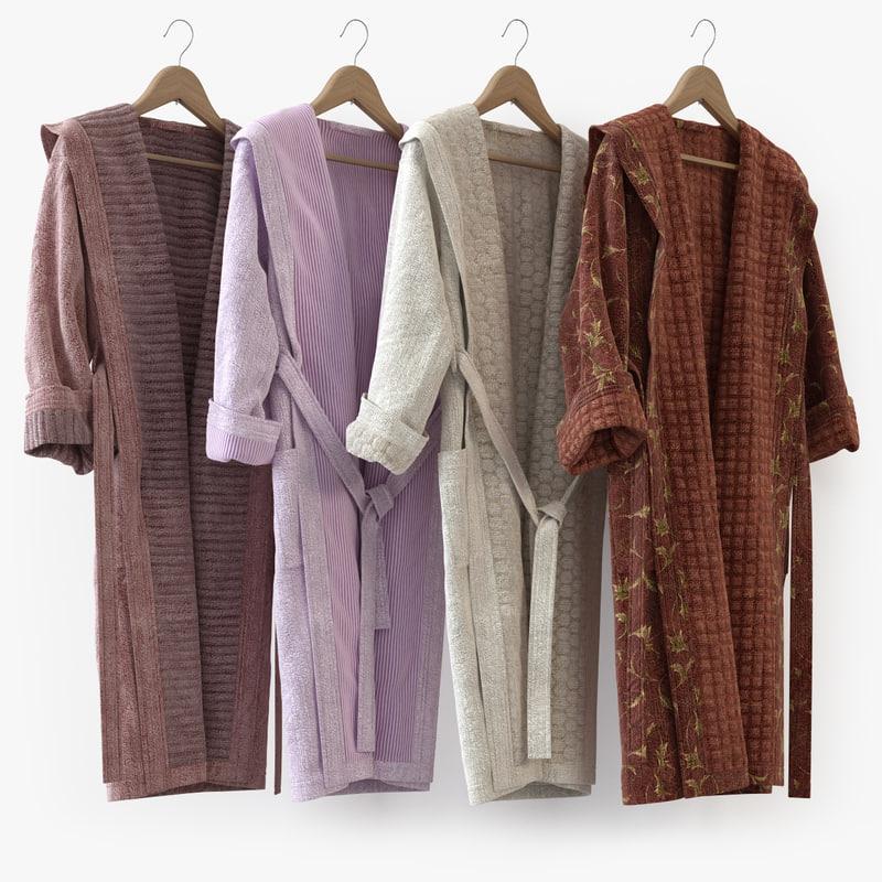 hanger bathrobe bath 3d max