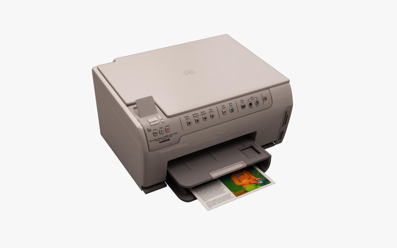 3d model white all-in-one printer