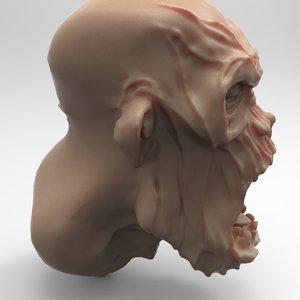 zombie head characters obj