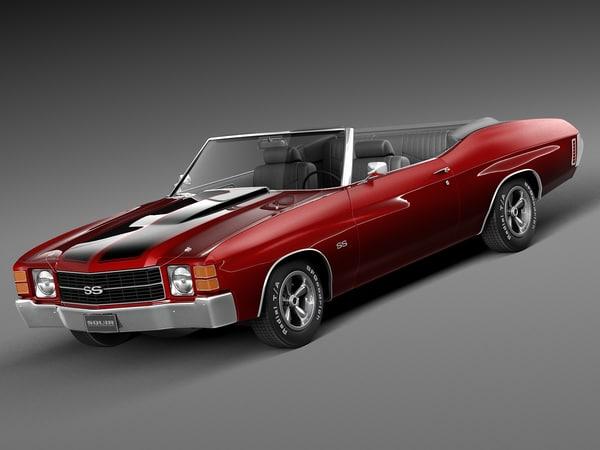 1971 convertible chevrolet 3d x