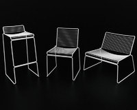 3d model of boconcept wire chair