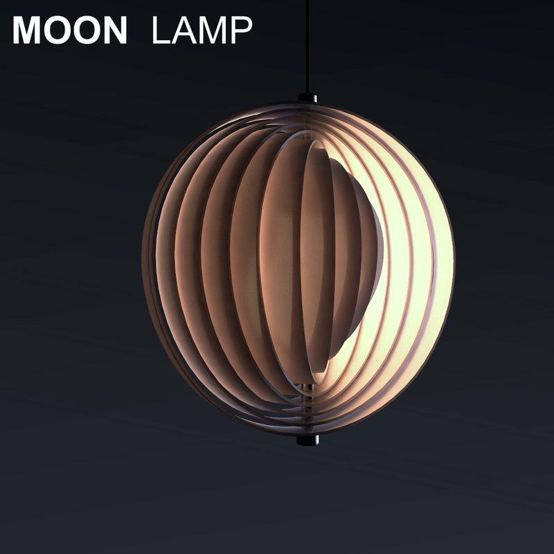 3d model moon lamp